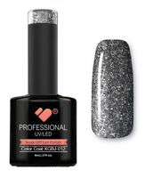 XGBJ-012 VB™ Line Adamant Star Black Silver - UV/LED soak off gel nail polish