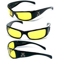 Choppers Mens Motorcycle Uv400 Sunglasses - Matte Black C11B