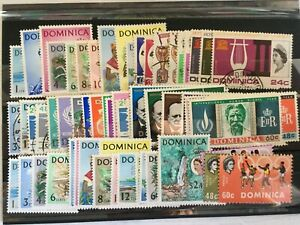 DOMINICA STAMPS - EARLY QEII ISSUES MINT & USED 1963-68 - SETS & SINGLES - (704)