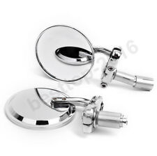 CHROME MOTORCYCLE BAR END SIDE MIRRORS FOR DUCATI HONDA YAMAHA SUZUKI KAWASAKI