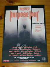 JUSTIN BIEBER - SIGNED AUTOGRAPHED 2017 Australia Tour Poster - Laminated