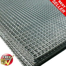 "2 Pack of 6ftx3ft Welded Wire Mesh Panels 1""x1""holes(25mm) Galvanise Steel Sheet"