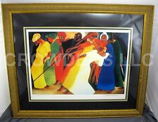 """Bernard Hoyes Dancing for the Lord Matted Framed & Embossed Print 40.5"""" x 33.5"""""""