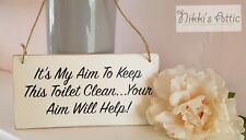 Toilet Rules Plaque, Shabby Chic , Bathroom , Home, Housewarming, Gift,Funny