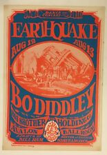 Earthquake Big Brother & The Holding Company Poster Family Dog Avalon Ballroom