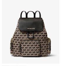 Michael Kors Abbey Leather Backpack - Black/Beige