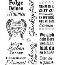 Sprüche II - Stempel - Clearstamp  von ViVa Decor (4003.143.00)