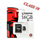 16GB Kingston Class 10 MICRO SDHC MEMORY CARD WITH SD ADAPTER TF HC MICROSD