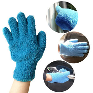 1pc Microfiber Dusting Cleaning Glove Mitt For Cars Blinds Windows Dust Remover