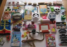 Large Toy Lot New Used Puppet Pez Cards Spinner Stamps Moustache Viewer