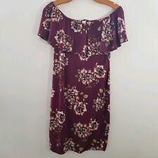 Meli & Eve XL Plum Floral Off Shoulder Dress