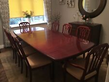 Extending Dining Table and 8 Chairs, Excellent Condition.