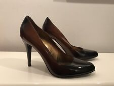 ALDO Pumps Classic Black Brown Ombre Leather High Heels 40 10