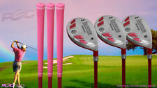 "Senior Ladies iDrive Pink Golf Clubs All Hybrid #4, 5, 6 ""Senior"" Flex Clubs"
