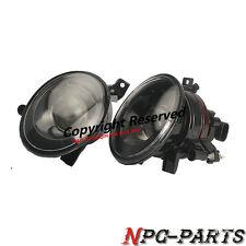 Pair Front Foglight Fog Lamp Halogen Convex Lens Fit For VW Jetta Golf MK6 New