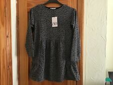Zara Soft grey Speckled long sleeve Dress age 11-12 NWT