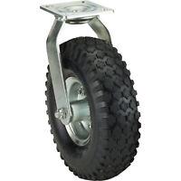 Ironton 10in. Swivel Pneumatic Caster - 300-Lb. Capacity, Knobby Tread