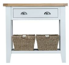 CANTERBURY WHITE PAINTED OAK CONSOLE TABLE / HALLWAY UNIT / TELEPHONE STAND