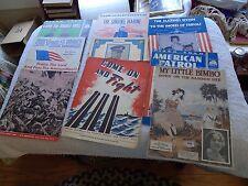 Lot Of 9  Vintage  Military Sheet Music Sousa album, pass the ammunition & more
