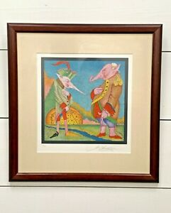 """Mihail Chemiakin """"Carnival de St Petersbourgh #16"""" signed framed lithograph"""