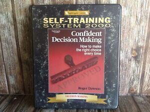 CONFIDENT DECISION MAKING 2000 - ROGER DAWSON CASSETTE TAPE AUDIOBOOK KIT SET
