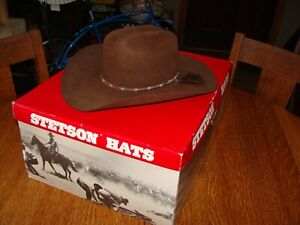 STETSON WILDWOOD 4X BEAVER COWBOY HAT CHOCOLATE COLOR SIZE 7
