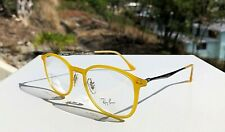 NWT Ray-Ban LightRay Eyeglasses Matte Yellow Frames RB 7051 5519 / 49-20-140