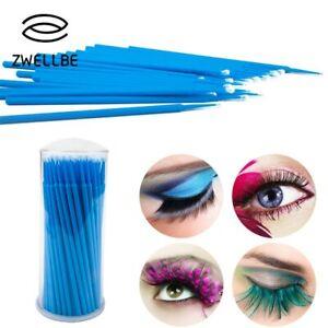100PCS/Lot Disposable Eyelash Brushes Swab Microbrushes Eyelash Extension Tools