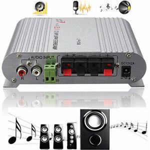 200W Bass Mini Hi-Fi Stereo Amplifier 2.1CH Car Home Booster Radio MP3