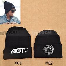 Black Knit Hat KPOP GOT7 BTS Fans Support Beanie Unisex Winter Warm Cap