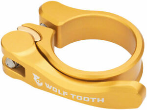 Wolf Tooth Components Quick Release Seatpost Clamp - 29.8mm, Gold