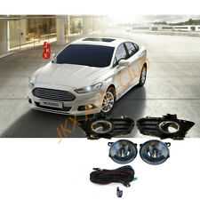 For Ford Fusion Mondeo 2013-2016 Fog Bezel Fog Light LED Bulb Lamp Wiring k Set
