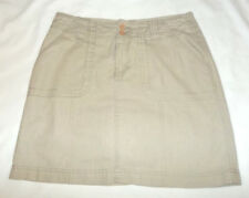 "SONOMA Oatmeal Beige LINEN Blend ""ORIGINAL SKORT"" Fully Skirted SKORT Sz 6"