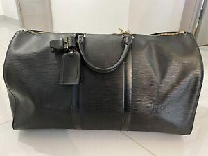 vintage Louis Vuitton Blue leather Keepall 50 bag  CODE- VI0964