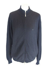 MALO Nero 100% Cashmere zip bomber cardigan sweater, essa 48 UK 16 US 12