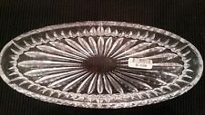 Lady Primrose Crystal Oval Oblong Fluted Tray Hand Washable Tabletop/Vanity