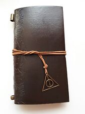 Brown diary Journal deathly hallows charm design hermione Book Hogwarts Harry