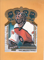 1999 00 PACIFIC GOLD CROWN DIE CUTS #28 JOHN VANSBIESBROUCK PHILADELPHIA FLYERS