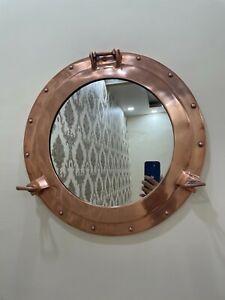 Antique Porthole Mirror Marine Porthole Ship Window Mirror Porthole Copper Finis