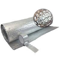 Free Tape  1.2m x 15m Double Foil Insulation Aluminium Bubble Loft Caravan Wall