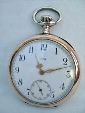 Good Solid Silver Gentleman's Vintage Pocket Watch By Omega.