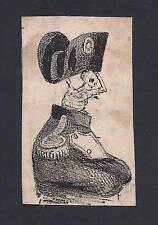 The True Face of Napoleon Bonaparte as a Skeleton Antique Print