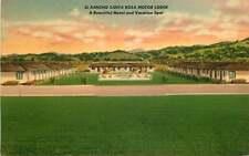 Linen Roadside Postcard El Rancho Santa Rosa Motor Lodge, Santa Rosa, California