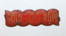 Vintage Gold Rope Wilson and McCallay Tin Tobacco Tag