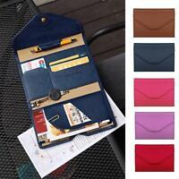New PU Leather Travel Bag Purse Wallet Document Organiser Passport Ticket Holder