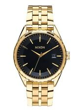 New Nixon Minx Gold Tone Stainless Steel Swiss Quartz Womens Watch A9342042