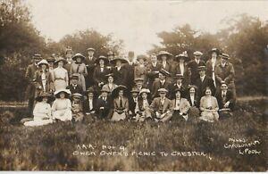 OLD PHOTO OWEN OWEN SHOP TRIP LIVERPOOL CHESTER PICNIC PEOPLE FASHION W13