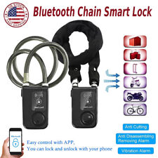 Bicycle Lock Anti-Theft Alarm Lock Smart Bluetooth Chain Lock Waterproof Lock US