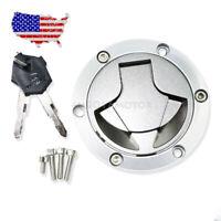 Fuel Gas Tank Cap Cover Lock Key Set for Kawasaki Ninja 250R 2008-2012 EX250J SE