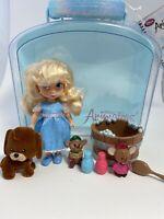 EUC Disney Parks Animators Collection Cinderella Mini Doll Play Set 5 Inch